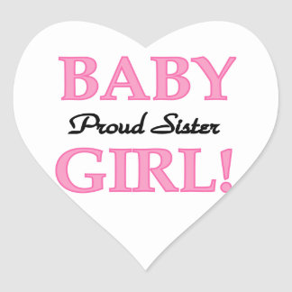 Baby Girl Proud Sister Gifts Stickers