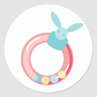 Baby Girl Rattle Stickers