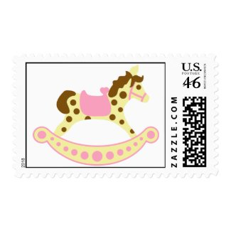 Baby Girl Rocking Horse Stamp stamp