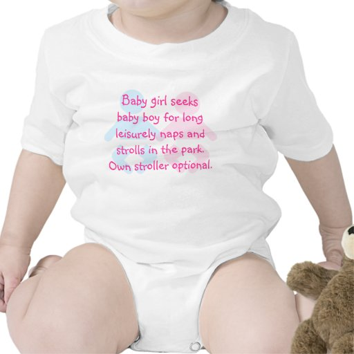 Baby Girl Seeks Boy Funny T Shirt Zazzle
