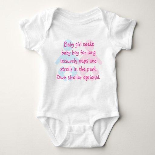 Baby Girl Seeks Baby Boy Funny T-Shirt
