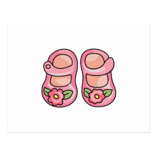 Baby Girl Shoes Postcard