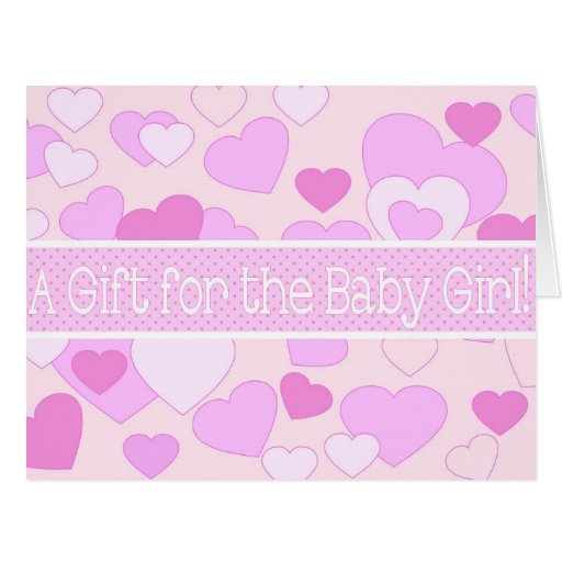 baby girl shower gift card zazzle