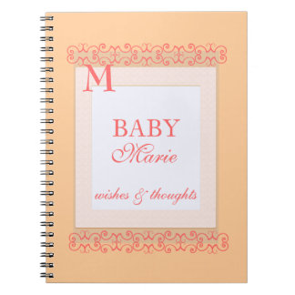 Baby girl Shower guest book Note Books