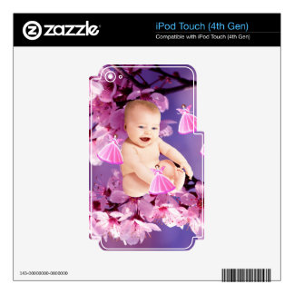 Baby girl shower in spring decal for iPod touch 4G