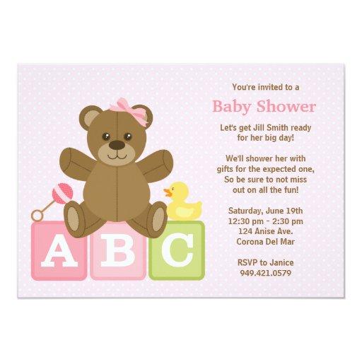 baby girl shower invitation zazzle
