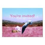 "Baby girl shower invitation 5"" x 7"" invitation card"