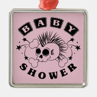 Baby Girl Shower Invite Metal Ornament