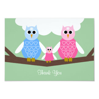 Baby Girl Shower Poem Thank You Flat 3.5 x 5 Card