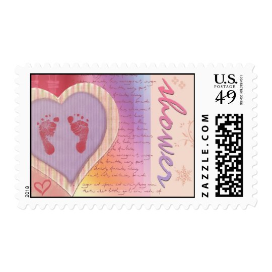 Baby girl shower postage