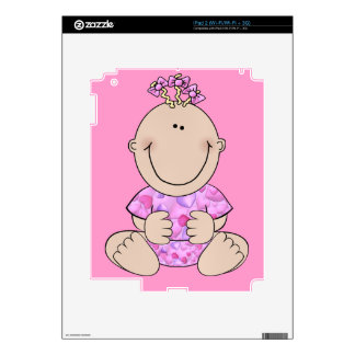 Baby Girl Sitting Decal For iPad 2