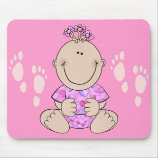 Baby Girl Sitting Mouse Pad