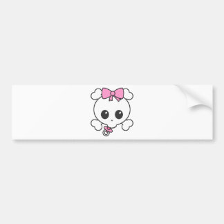Baby Girl Skully Bumper Stickers