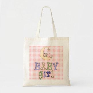 Baby Girl Sleeping Moon Diaper Bag