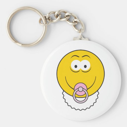 Baby Girl Smiley Face Key Chains
