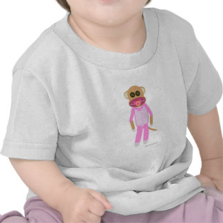 Baby Girl Sock Monkey T-shirts