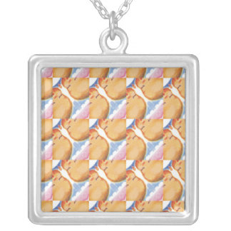 Baby Girl Square Pendant Necklace