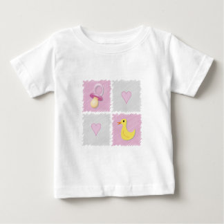 Baby Girl Squares Baby T-Shirt