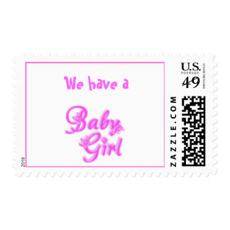 baby girl stamp