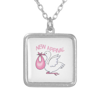 BABY GIRL STORK NECKLACE