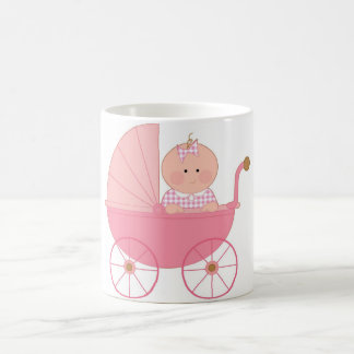 Baby Girl Stroller Classic White Coffee Mug