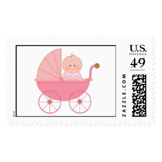 Baby Girl Stroller Stamp
