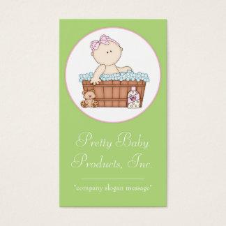 Baby Girl taking a Bath Business Card