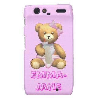Baby Girl Teddy Bear - Emma Jane editable Motorola Droid RAZR Cases