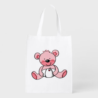 Baby Girl (teddy bear) Reusable Grocery Bag