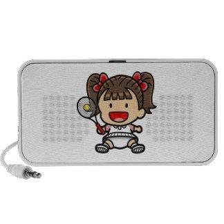 Baby Girl Tennis Player Mini Speakers