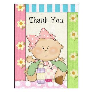 Baby Girl Thank you Shower postacrd Postcard