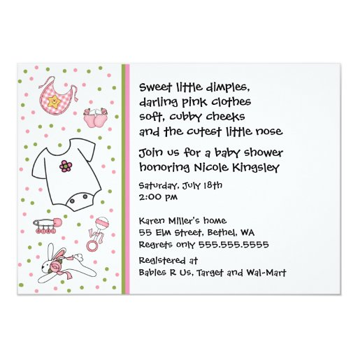 baby girl things shower invitation zazzle