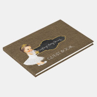 Baby Girl Tiara | Burlap Baby Shower Guest Book