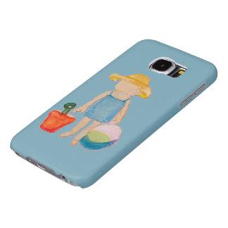 Baby Girl Toddler on Summer Beach Birthday Blue Samsung Galaxy S6 Cases