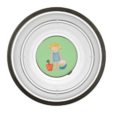 Beach Themed Baby Girl Toddler on Summer Beach Birthday Mint Bowl