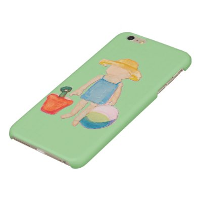 Baby Girl Toddler on Summer Beach Birthday Mint Glossy iPhone 6 Plus Case