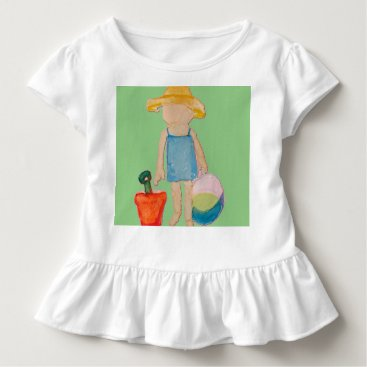Beach Themed Baby Girl Toddler on Summer Beach Birthday Mint Toddler T-shirt