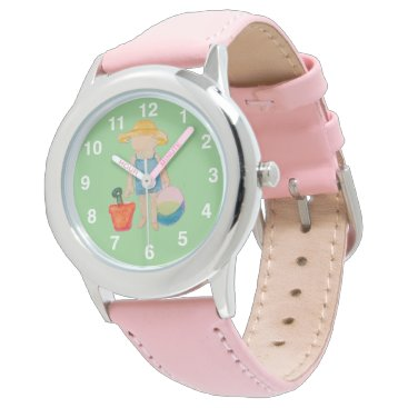 Beach Themed Baby Girl Toddler on Summer Beach Birthday Mint Watch