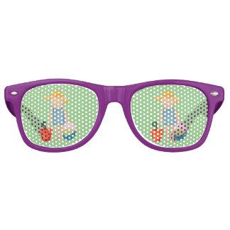 Baby Girl Toddler on Summer Beach Birthday Mint Wayfarer Sunglasses