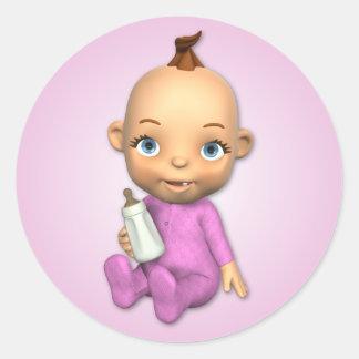 Baby Girl Toon Sticker
