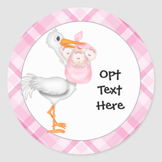 Baby Girl Triplets Stickers