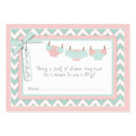 Baby Girl Tutu Diaper Raffle Ticket Large Business Cards (Pack Of 100)