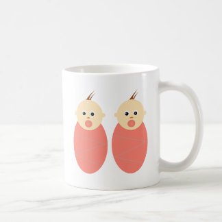 Baby Girl Twins Pink Shower Cute Pattern Coffee Mug