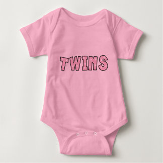 Baby Girl twins word art bodysuit