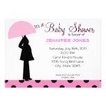 Baby Girl Umbrella Baby Shower Invitations