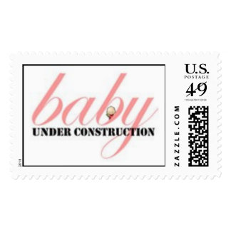 Baby Girl Under Construction Postage Stamp