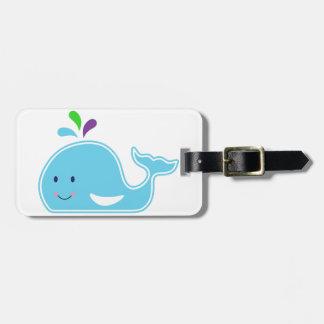 Baby Girl Whale Bag Tag