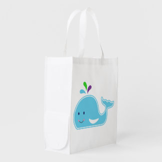 Baby Girl Whale Grocery Bag