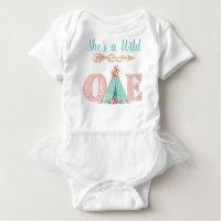 Baby Girl Wild One Birthday Party Shirts