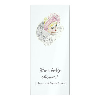 Baby Girl With Big Blue Eyes Card